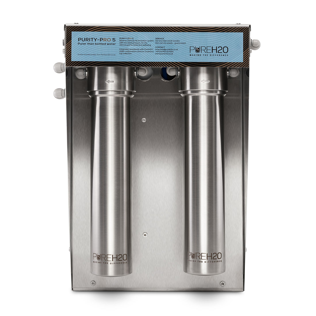 PureH2O water purifier removes plastics from tap awter.